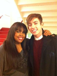 Amber Riley & Kevin McHale