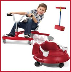 radio flyer trio bundle scooter spin toy pogo stick toddler ride on