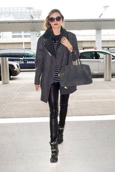 Gear up for your holiday travels with outfit inspiration from celebs who know how to hit the airport in style.