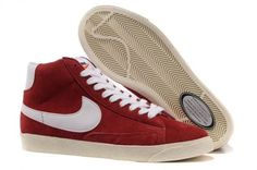 newest 0d4f0 90794 Nike Blazer High Vintage Suede Chaussure pour Femme Gym Rouge Blanc,Fashionable  and quality sports