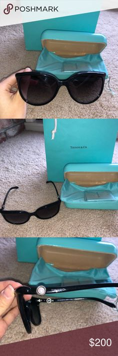 dfc0379c732 Original Tiffany   Co. Aviator Sunglass Tiffany   Co. Black Aviator  Sunglasses Comes with original Tiffany Case and 2 Tiffany dust bag…