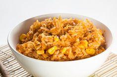 Receita fácil de arroz de frango do Naminhapanela.com   Receitas e Gastronomia