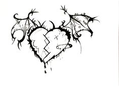 Drawn Heart emo 1 - 604 X 439 Free Clip Art stock illustration Heart Pencil Drawing, Pencil Drawings Of Love, Pencil Shading, Tattoo Sketch Art, Rose Drawing Tattoo, Creepy Drawings, Easy Drawings, Heart Art, Cartoon Art