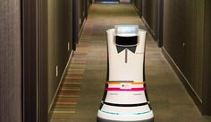 Robot Butlers Roll Into Action at Starwood Hotels - NBC News Nagasaki, Fourth Industrial Revolution, Communication Networks, Hotel Logo, The Jetsons, Future Trends, Electronic Engineering, Startup, Concierge