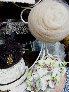 Vintage ladie's hats.