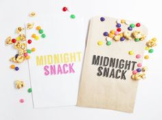 Midnight Snack Candy Buffet Bags for you Wedding's Candy Buffet or Sweet Treat Table