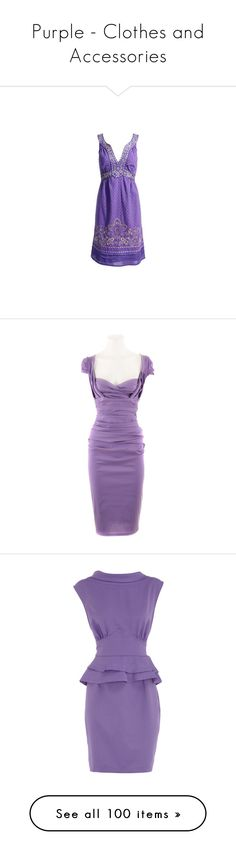 """""""Purple - Clothes and Accessories"""" by mama-candy ❤ liked on Polyvore featuring dresses, vestidos, purple dress, embroidered dress, embroidery dresses, monsoon dresses, broderie dress, purple, women and purple cocktail dresses"""