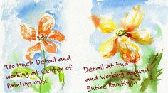 detail Watercolor Painting Mistake