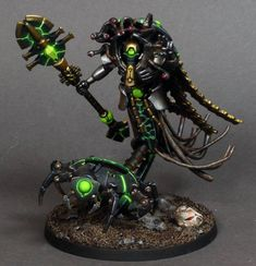If your unlucky enough to be on a Necron Tomb World when it awakens from its slumber the best you can hope for is a swift death! Warhammer Figuren, Warhammer 40k Necrons, Warhammer Paint, Warhammer Models, Warhammer 40k Miniatures, Necron Army, Necron Warriors, Warhammer Tabletop, Dark Eldar
