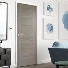 Contemporary Living and Bedroom Furniture for Stylish Homes Grey Internal Doors, Grey Doors, Black Interior Doors, Door Fittings, Flush Doors, Mirrored Furniture, Bathroom Doors, Wooden Doors, Contemporary Decor