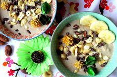 RAW pohanková kaše s mandlovou smetanou Acai Bowl, Bob, Healthy Recipes, Healthy Food, Pudding, Vegetarian, Vegan, Cooking, Breakfast