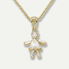 Diamond Girl Pendant at Marie-Chantal
