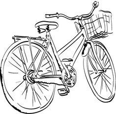 Island Bike 2 - Rubber Stamps