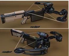 ArtStation - Semi-Automatic Crossbow, moor head.mrhd