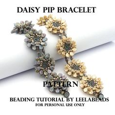 Learn how to make a beautiful flower bracelet, that you can see in Preciosa Ornela adds. Youll receive PDF pattern where you will find 8 pages on how
