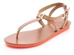shopstyle.com: Tory burch Tricia Flat Sandals
