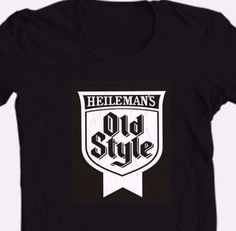 Old-Style-Beer-black-T-shirt-Heilemans-cool-retro-punk-cotton-graphic-tee