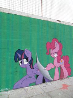 Breaking the 4th wall, once again - MLP Graffiti by ShinodaGE on deviantART