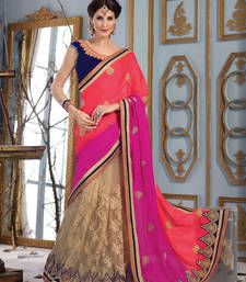 Buy Multicolor embroidered Georgette saree with blouse wedding-saree online