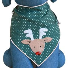 """Red Nosed Reindeer Christmas Holiday Dog Bandana Kerchief (Large) This product fits most small to medium sized dogs. Medium Size fits 8""""-15"""" neck line. Large Size fits 16""""-24"""" neck line. Read  more http://dogpoundspot.com/red-nosed-reindeer-christmas-holiday-dog-bandana-kerchief-large/  Visit http://dogpoundspot.com for more dog review products"""