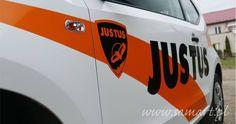 Reklama na samochodzie dla Justus Kraków Krakow