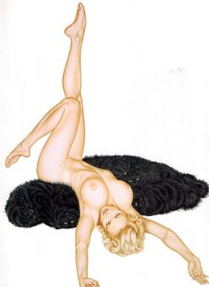 Olivia de Berardinis Vintage Pinup Illustration by ThePinUpPages