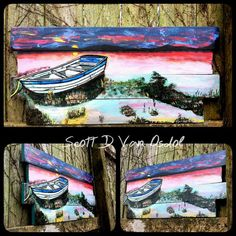 SUNSET On The LAKE ART By Scott D Van Osdol by MySalvagedPast