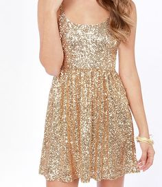 gold dress for the holidays