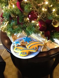 "Alpha Xi Delta Cookies! I only have greek letter cutters, roses and fuz""xi"" teddy bears. Is it just me or do these quills seem phallic?"