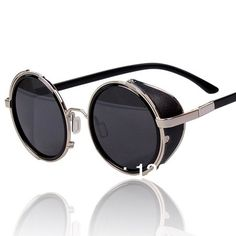 VINTAGE STEAM PUNK Tops women round Designer Fashion Polarized Metal SUNGLASSES 2013 Hot New Star Men Retro CIRCLE Sun GLASSES-in Sunglasses...