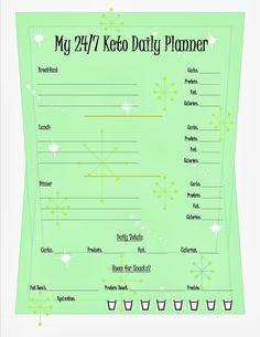 Keto Menu Planning Sheets - 24/7 Low Carb Diner