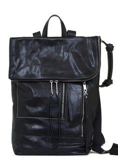 RICK OWENS SS20 TECUATL DUFFLE BAG IN BLACK LEATHER Calf Leather, Black Leather, Rick Owens, Leather Backpack, Calves, Backpacks, Bags, Handbags, Leather Book Bag