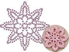Best 9 Rounded Blossom Lace Crochet Motifs – Page 701998660639048029 – SkillOfKing. Crochet Earrings Pattern, Crochet Motif Patterns, Crochet Diagram, Crochet Chart, Crochet Squares, Crochet Stitches, Crochet Dollies, Crochet Flowers, Crochet Wigs