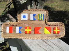 Nautical Flag SAG HARBOR by sagharborglass on Etsy