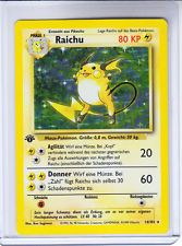 ( GERMAN ) Pokemon RAICHU HOLO FOIL 1 St Ed Base Card # 14/102 - MINT  get it http://ift.tt/2heTsvC pokemon pokemon go ash pikachu squirtle