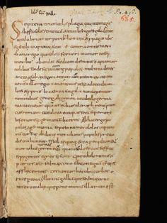 St. Gallen, Stiftsbibliothek, Cod. Sang. 635, p. 1 – Paulus Diaconus, Historia Longobardorum