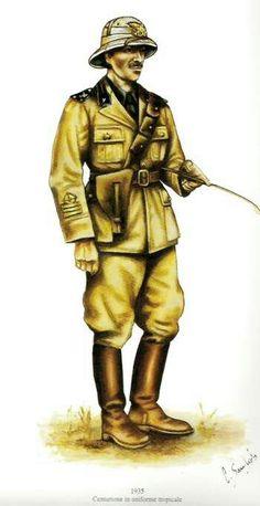 Milizia coloniale - Regio Esercito 1935 - Centurione in divisa tropicale, pin by Paolo Marzioli