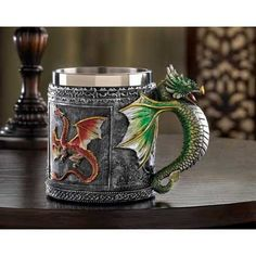 Royal Dragon Mug | $24.95 | Lexi's Kreationz, LLC | http://lexiskreationz.storenvy.com/products/881851-royal-dragon-mug