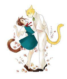 "Le Royaume des Chats ~ Haru & Baron ♥ ""The Cat's Reunion"" by jjak.deviantart.com on @deviantART"