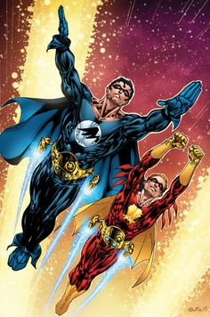 Nightwing and Flamebird - Lines by Guile Sharp Colors by Mark H Roberts Dc Comics Superheroes, Dc Comics Art, Archie Comics, Superman Characters, Comic Book Characters, Comic Character, Comic Book Artists, Comic Books Art, Comic Art