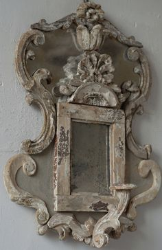 Take architectural pieces, finish off, add around an existing mirror frame for p. - Take architectural pieces, finish off, add around an existing mirror frame for powder room – – - Old Mirrors, Vintage Mirrors, Vintage Decor, Mirror Mirror, Vintage Clocks, French Decor, French Country Decorating, French Mirror, Beautiful Mirrors