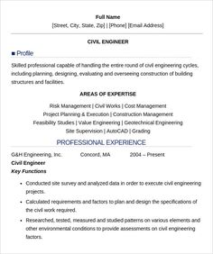16 civil engineer resume templates free samples psd example format download