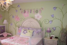 Addison's Flower and Fairy Garden @Murals and more by Patrice- Children's Murals- NYC Muralist- NJ