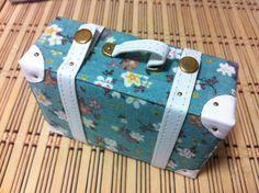 beautiful-blue-floral-handmade-suitcase. Blythe doll accessory. By Claraspeach on Etsy.