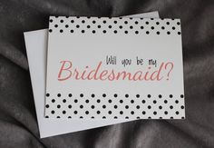 Will You Be My Cards  Select Color and Pattern by #patternedpomegranate, $20.00 #wedding #willyoubemybridesmaid #custom