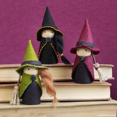 Looking for some fabulous kids crafts for Halloween? Spend an afternoon crafting these witch peg dolls with your kids to prepare for the spooky holiday!