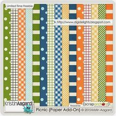 FREE Picnic {Paper Add-On} HERE by Kristin Aagard