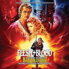 Flesh + Blood Soundtrack cover.  Original score by Basil Poledouris.  Released by LaLaLand Records.  Buy: http://www.amazon.com/gp/product/B00ID0ZUPO/ref=as_li_tl?ie=UTF8&camp=1789&creative=390957&creativeASIN=B00ID0ZUPO&linkCode=as2&tag=tracksounds&linkId=XO4FOEIEIN7EVIUI