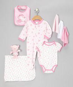 Love this Pink Sweet Heart Nine-Piece Layette Set - Infant by Cutie Pie Baby on #zulily! #zulilyfinds