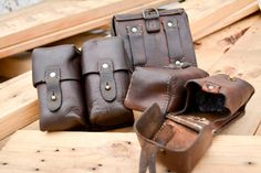 Hey, I found this really awesome Etsy listing at https://www.etsy.com/listing/218419238/vintage-leather-steampunk-ammo-pouch-sks